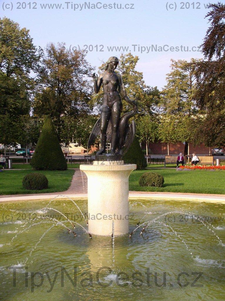 Fontána v parku - Poděbrady