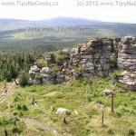 Výhled z nejvyšší hory Jizerských hor, z Jizery (1122 m.n.m.)